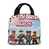 suzzc Ro-blox Lunch Bag Cooler Lunch Tote for Woman Man Women Boating Beach