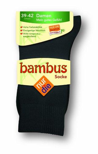 Nur Die Damen Socken 496842/ Da Bambus Socke, Gr. 39-42, Schwarz (schwarz 940)