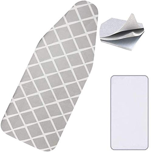 Hoiidel Ironing Board Cover Thick 15x54 with 100% Cotton Iron Cover and Extra Thick Pad Large and Standard Board Resists Scorching and Staining Elastic Edge Thick Padding No Fasteners Needed