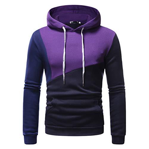 ZGRNPA Herren Basic Kapuzenpullover Sweatjacke Pullover Hoodie Sweatshirt...