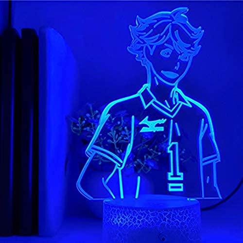Haikyuu ToRU OIKAWA - Lámpara LED de ilusión (acrílico, USB, 16 colores, mando a distancia, regalo de cumpleaños para niños