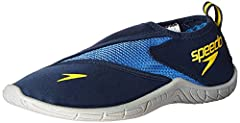Updated speedo water shoe Stretch upper allows for pull-on entry and secure fit S-trac outsole offers no-slip grip Maximum breathability Quick-drying materials