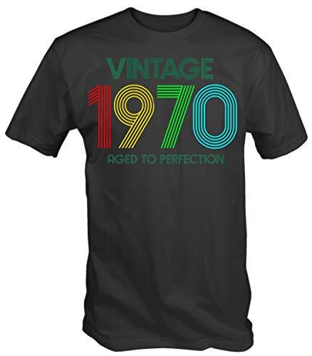 6TN Hombre Camiseta Vintage 1970 Aged To Perfection