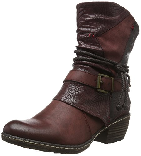 Rieker Kinder Mädchen K1480 Cowboy stiefel, Rot (Bordeaux/Vinaccia/Burgund / 35), 36 EU
