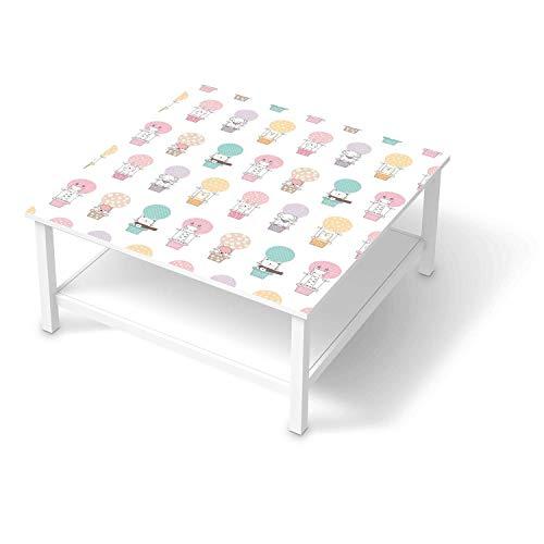 creatisto Möbeltattoo für Kinder - passend für IKEA Hemnes Couchtisch 90x90 cm I Tolle Möbelaufkleber für Kinder-Zimmer Deko I Design: Flying Animals