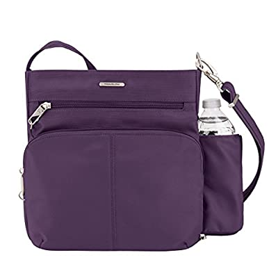 Travelon Anti-theft Classic N/S Cross Body Bag, Purple