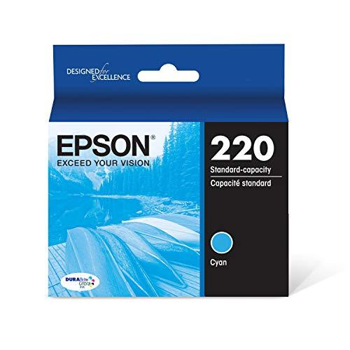 Epson T220220 DURABrite Ultra Cyan Standard Capacity Cartridge Ink (WF-2760, WF-2750, WF-2660, WF-2650, WF-2630, XP-424, XP-420, XP-320)