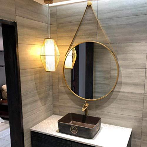 Lei Ze Jun Uk Nordischer Eitelkeits Spiegel Wand Dekorations Badezimmer Seil Spiegel Einfacher Verfassungs Großer Runder Spiegel Wandspiegel