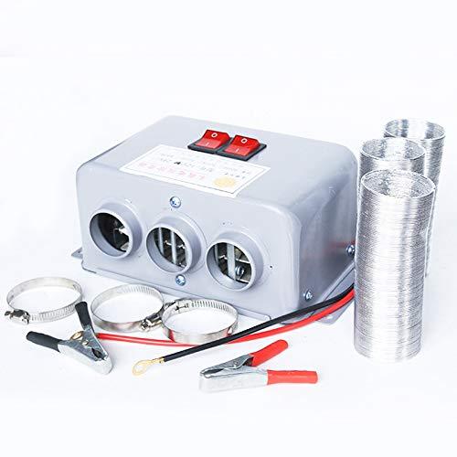 Automotive, elektrische ontdooimachine, 3-gaats en dubbel verwarmingsblok, elektrische autoverwarming, luchtontvochtiger voor verwarming, ontdooien, ontgassen 12 V, 500 W.