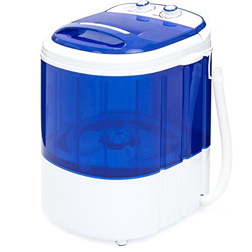 Best Choice Products Portable Compact Mini Single Tub Washing Machine w/Hose, Blue