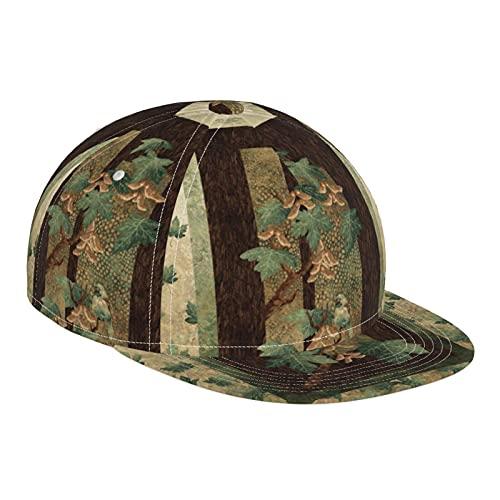 ZORIN Cappello da baseball per uomini donne retrò autunno pianta albero piatto tesa Sun cappelli nero regolabile Snapback Caps papà Trucker Cap