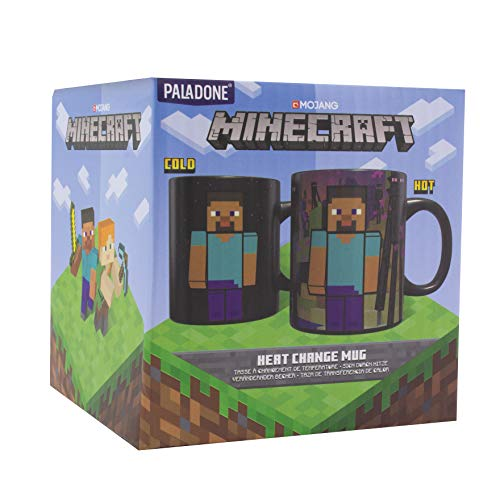 Paladone PP6583MCF Minecraft Enderman Thermobecher, groß, 325 ml, Steingut, 325 ml