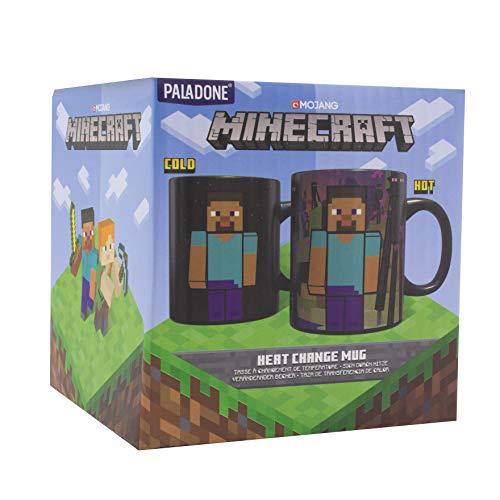 Paladone PP6583MCF Minecraft Enderman Thermobecher – Große Kaffeetasse 325 ml, Steingut, 11 Unzen