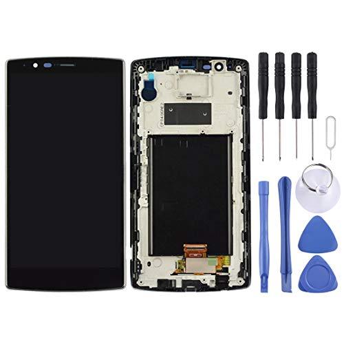 YANTAIANJANE Accesorios de móviles Ensamblaje del digitalizador para LG G4 H815 / H810 / VS999 / F500 / F500S / F500K / F500L (LCD Frame Touch Pad) (Color : Black)