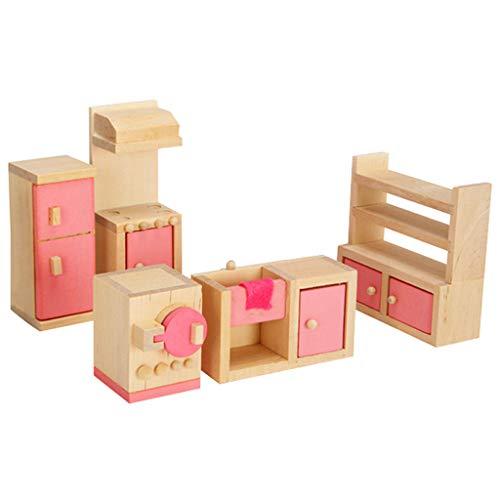 TwoCC-Kinderspielzeug,Mini Bewegliche HöLzerne Puppe Mini Menschen Figuren Familie So Tun, Als Spielen Spielzeug Geschenk