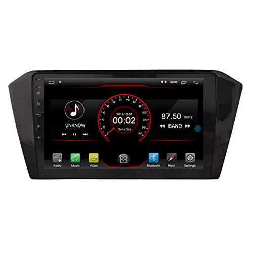 "BJYG Android 10 Car DVD Player GPS Stereo Head Unit Navi Radio Multimedia WiFi para Volkswagen Passat B8 2015-2019 10.2""Control del Volante Negro"