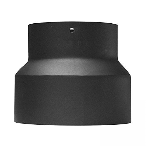 raik SH013-007-sw Rauchrohr/Ofenrohr Reduzierung 200mm - 180mm schwarz