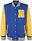 Riverdale College Hombre Chaqueta Universitaria Azul/Amarillo XL