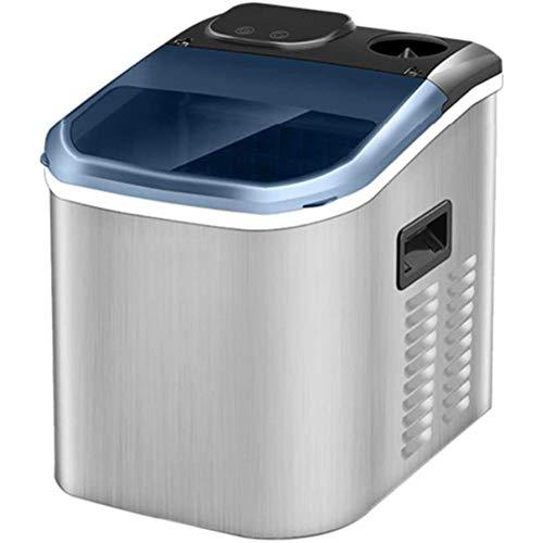 Máquina grande para hacer hielo en la encimera,produce 55 lb de hielo por 24 horas|Acero inoxidable - Máquina eléctrica para hacer hielo con cuchara para hielo y almacenamiento de hielo de 1.5 lb