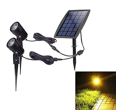 DINGLILIGHTING Solar Powered Garden Spotlights for Tree,Waterproof Outdoor Solar Spot Lights,Outdoor