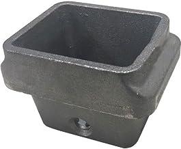 Hoguera de hierro fundido para estufa de pellets H Color 81mm boca color 95x 70mm–Chapa de 6,5mm
