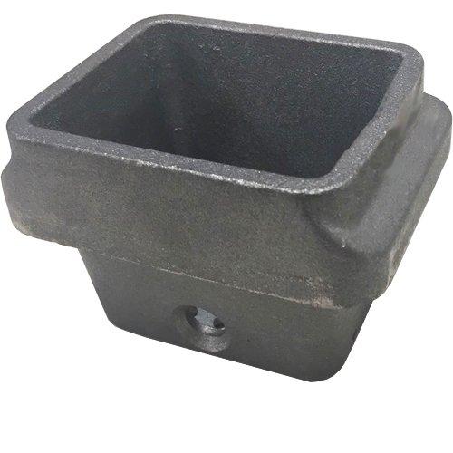 Braciere in ghisa per stufa a pellet 113mm x 93mm H: 81mm bocca: 95x82mm - lamiera di 6,5mm