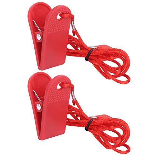 Máquina para correr Interruptor de seguridad Bloqueo de seguridad Clip de seguridad magnético Accesorios de fitness universales Carcasa de imán cuadrado Accesorios para llaves de cinta de correr (2 pi