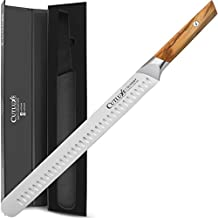 Cutluxe 12 Inch Slicing Knife - Professional Brisket Knife with Sandvik 14C28N Steel Blade - Olive Wood Handle - Full Tang Construction - OLIVERY Series