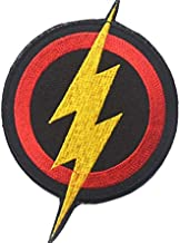 Flash Superhero Cosplay Lightning Bolt Military Patch Fabric Embroidered Badges Patch Tactical Stickers for Clothes with Hook & Loop
