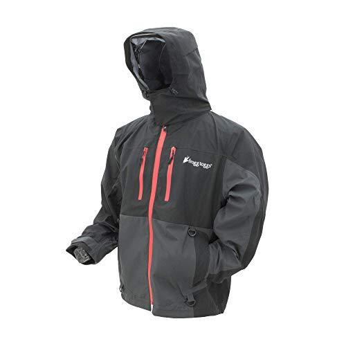 Frogg Toggs Pilot II Guide Rain Jacket, Black/Charcoal Gray, Size XX-Large
