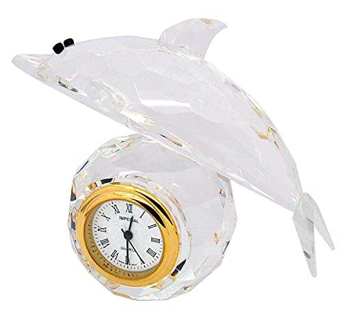 GTP Reloj de coleccionistas de aleación chapado en oro y cristal de delfín para mujer IMP520