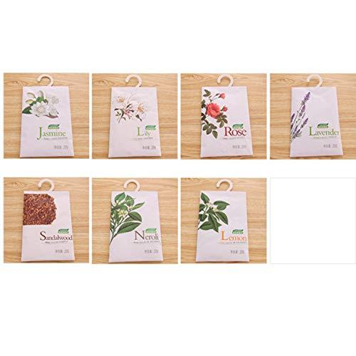 DBSUFV Bolsa de bolsitas de Fragancia perfumada Ambientador Desodorante Armario Coches Flor Colgante Ambientador perfumado para cajones de Ropa