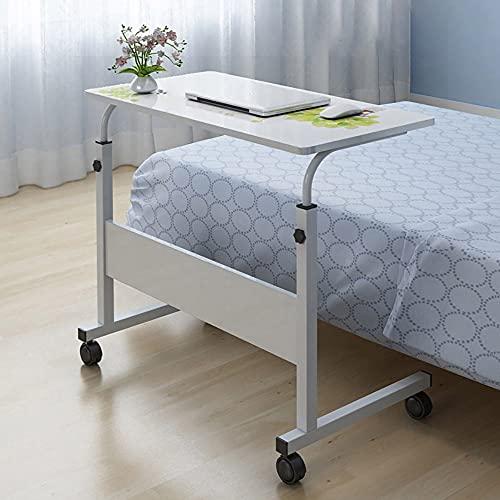 Laptopbord för soffa eller säng flyttbart rullbord laptop skrivbord stående höjd justerbart datorskrivbord, lämplig för hem eller kontor arbete säng soffa balkong (80 x 40 cm)