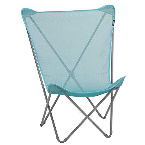 Lafuma Silla plegable compacta portátil, MAXI POP UP, Batyline, color azul claro, LFM1837-8553 ⭐
