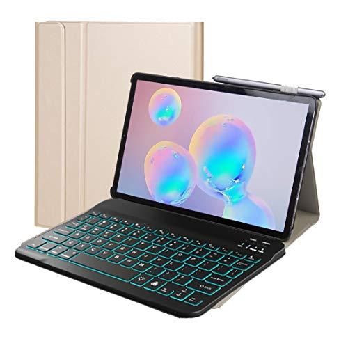 Accesorios para PC de la tableta ST500 para Samsung Galaxy Tab A7 T500 / T505 10.4 pulgadas 2020 Estuche de cuero con teclado Bluetooth desmontable ultradelgado con soporte, función de suspensión y re