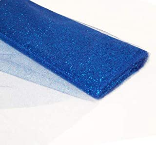 blue glitter tulle fabric