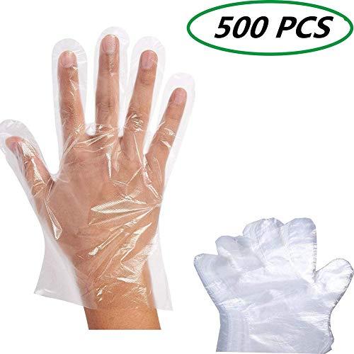 Cosanter Einmalhandschuhe Transparente Lebensmittelqualität Kunststoff Handschuhe 500 Stück Verpflegung Schönheit Essen und Küche Einheitsgröße