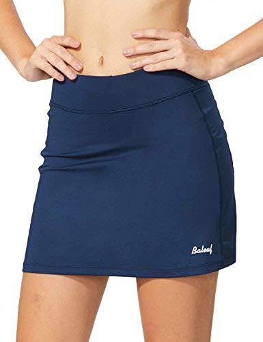 BALEAF Women's Athletic Skorts Lightweight Active Skirts with Shorts Pockets Running Tennis Golf Workout Sports Navy Size XL