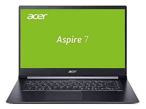 Acer Aspire 7 (A715-73G-56YJ) 39,6 cm (15,6 Zoll Full-HD IPS matt) Multimedia/Gaming Laptop (Intel Core i5-8305G, 8 GB RAM, 256 GB PCIe SSD, Radeon Pro WX Vega M GL Graphics, Win 10 Home) schwarz