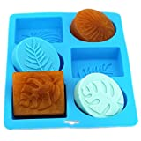 Silicone Molds Monstera, Palm Olive Leaves Craft Art Silicone Soap Mold, 6 Hole Craft Molds DIY Handmade Soap Molds - Soap Making Supplies by YSCEN