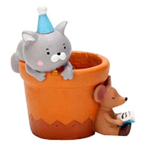 Cat Creative Party Mini Resin Flower Pot Décorations de table