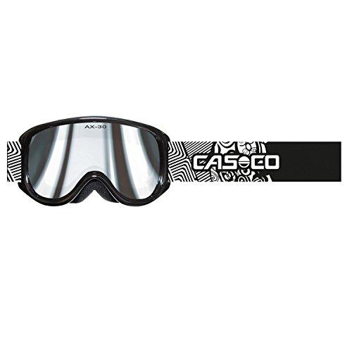 Casco Skibrille für Kinder und Jugendliche AX-30 PC (schwarz-weiß F1)