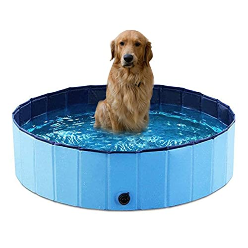 VusiElag Familiezwembad, Hondenpeuterbad, Opvouwbaar Puppy Zwembad Huisdier Bad Zwembad Zwembad Huisdier Zwembad…