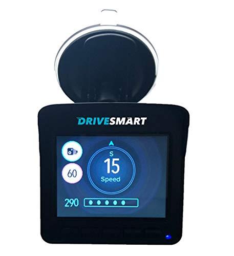DriveSmart Elite2 Mobile Laser, Radar and GPS Speed Camera Trap & Red Light Camera Detector with Inbuilt 1296p HD Dash Camera for UK & Europe