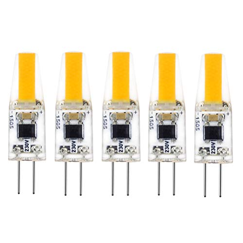 LED G4 220V, COB Leuchtmittel 2700K Warmweiß 2W 200LM, Ersatz für 20W Halogenlampen, 360° Abstrahlwinkel 5er Pack