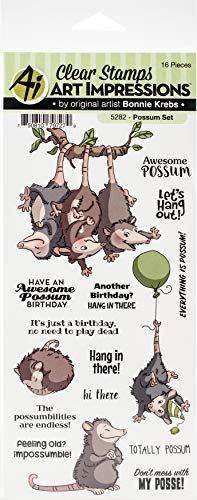 ART IMPRESSIONS CLEAR STAMPS POSSUM, us:one size