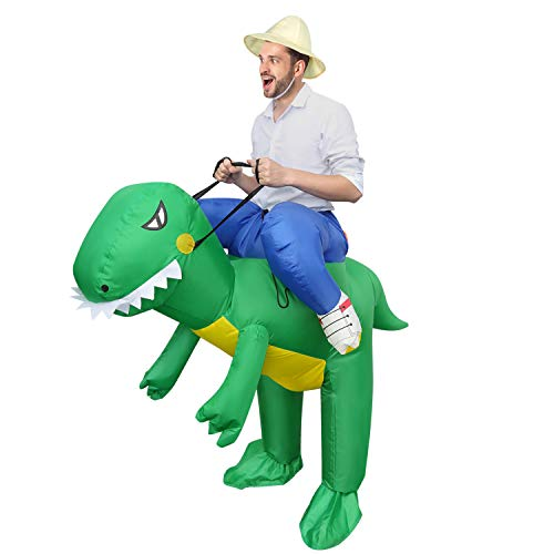 Inflatable Dinosaur Costume, Riding Dinosaur Christmas Costumes for Adults