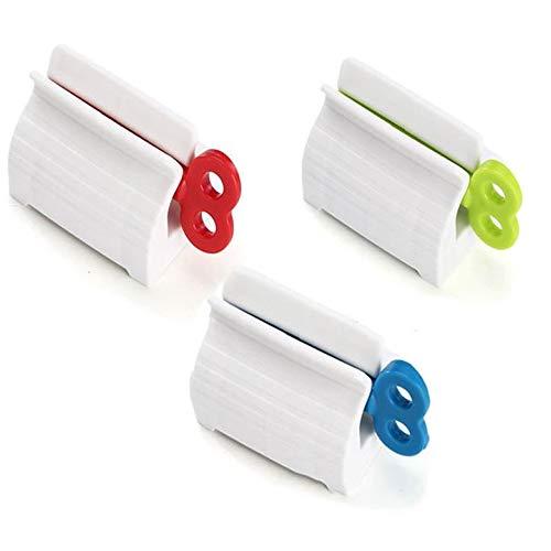 Qiwenr 3 Pièces Distributeur de Dentifrice,Presse Dentifrice Tube Wringer Presse Tubes de Peinture Tube Squeezer Roller,pour Dentifrice Peintures Cosmétiques (Couleurs Mélangées)
