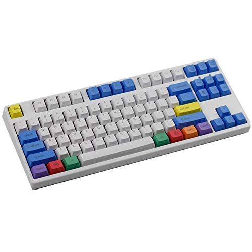 Sunzit Keycaps, 87 Tecla PBT Keycap Tapa Blanca Gruesa de la Tiza Key Set Grabado Superior Keycaps para Cherry MX Teclado Interruptor Mecánico