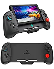 NexiGo Switch Controller for Handheld Mode, Ergonomic Controller for Nintendo Switch with 6-Axis Gyro, Dual Motor Vibration, PD Fast Charge, Compatible with All Games of Switch (Red & Blue)